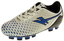 Gola Activo5 Boys Girls Silver & Blue Astroturf Blade Soccer Boots US 11 Kids
