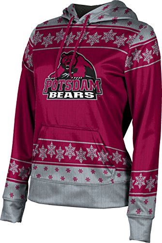 Women's State University of New York at Potsdam Ugly Holiday Snowflake Pullover Hoodie