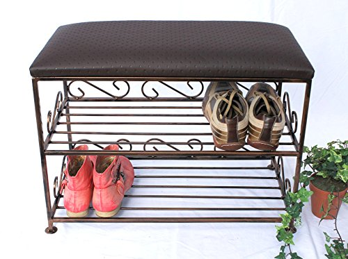 preisvergleich schuhregal mit sitzbank bank 60cm schuhschrank willbilliger. Black Bedroom Furniture Sets. Home Design Ideas