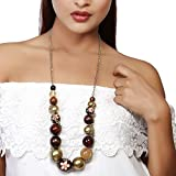 Pep My Persona Painted Bead Glory Necklace For Women