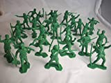 Marx Boonesborough Pioneers 25 Figures in 9 Poses in Green Offered By Classic Toy Soldiers, Inc