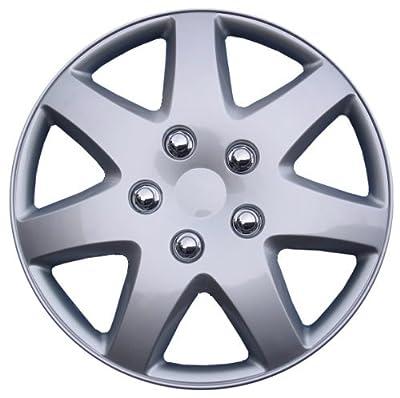 """BDK Chrysler Sebring Hubcaps Wheel Cover, 16"""" Silver Replica Cover, (4 Pieces)"""