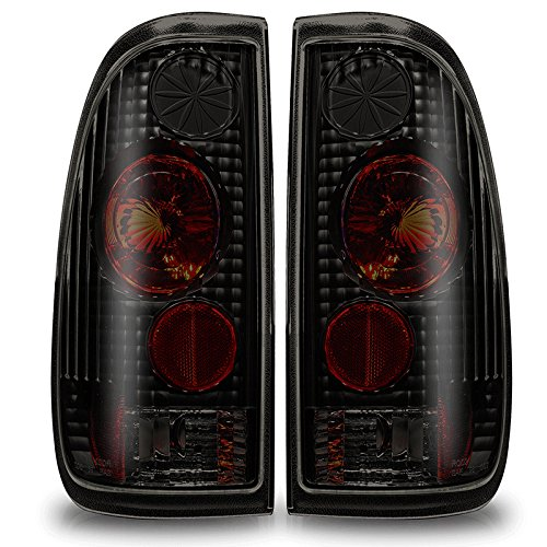 WINJET 97-03 FORD F-150 STYLE SIDE ALTEZZA TAIL LIGHT - BLACK / SMOKE (1998 Ford F 150 Accessories compare prices)