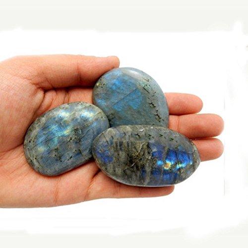 ONE (1) Labradorite Polished Stone - Labradorite Slabs - Freeform Labradorite Rocks - Tumbled Stones - Rock Paradise Exclusive COA (Smooth Gem Rocks compare prices)