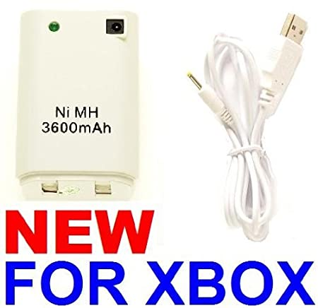 CONTROLLER BATTERY PACK + CHARGE CABLE KIT FOR XBOX 360