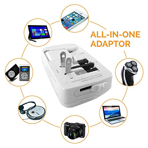 Multiple USB Charger | AC USB Power Adapter By IsmarTech | AC Universal Adapter | International Adapter | Suitable For Apple and Android Phones and Tablets (White/Silver) (Nintendo Power Last Issue compare prices)