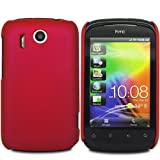 MYNC Hybrid Plastic Case Cover For HTC Explorer A310e / Red