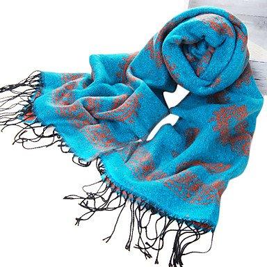 National Style Acrylfaser Lakeblue warme Winter Schal mit Quasten günstig kaufen