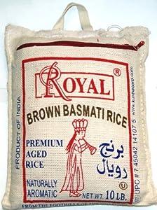 Amazon.com: Royal Premium Aged Brown Basmati Rice 10 Lbs