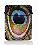 Peacock Feather 14'' 14.1'' 14.4'' Laptop Flip Sleeve Case Notebook Bag Cover Pouch For Sony VAIO/CW/CS / 14