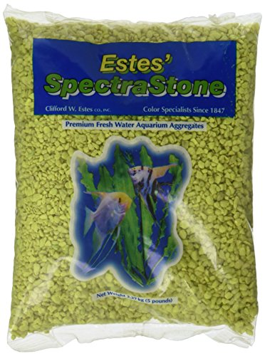 Spectrastone Permaglo Yellow Aquarium Gravel for Freshwater Aquariums, 5-Pound Bag