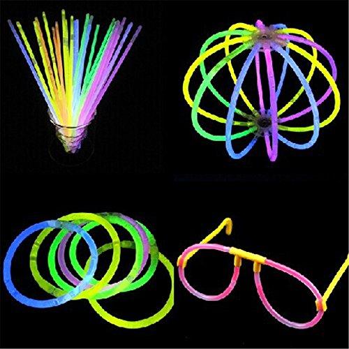 Oliadesign® 8″ Glowsticks Glow Stick Bracelets Mixed Colors (Tube of 100)