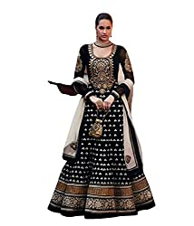 Ajay and Vijay Women's Embroidered Unstitched Anarkali Salwar Suit (Free Size_DS3005)