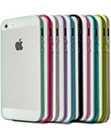 TPU Bumper With Clear Frostedhard Back Case For Apple iPhone 5C - Mint Green + Screen Protector