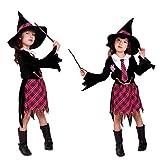 Cuteshower ハロウィン 衣装 キッズ コスチューム 子供 魔女 悪魔 ワンピース 女の子 XL(130-140cm)