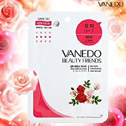 Vanedo Beauty Friends Sheet Mask From Korea Rose (12 Sheets)