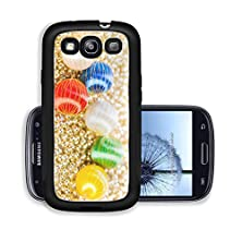 buy Liili Premium Samsung Galaxy S3 Aluminum Case A Set Of Brightly Colored Christmas Ornaments Is On Bed Gold Beads Image Id 22506612