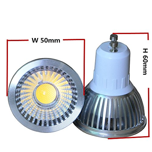 Pack Of 2 Units 3W Mr16 Cob Led Bulbs, 30W Equivalent, Perfect Standard Size, Warm White, Recessed Lighting, Track Lighting
