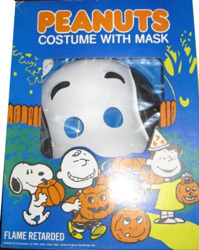 Vintage 1980s peanuts costume and mask snoopy medium 8 to 10