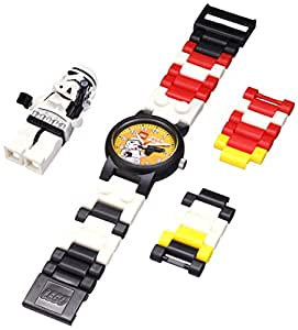 LEGO Kids' 8020325 Star Wars Stormtrooper Plastic Watch with Link Bracelet and Figurine