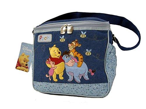Winnie the Pooh Denim Bottle Bag Diaper Bag - 1