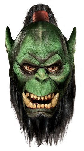 Rubie's Costume Co World Of Warcraft Deluxe Latex Mask, Orc, Brown, One Size by MCS