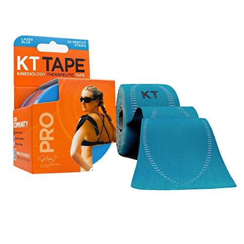 KT TAPE PRO Elastic Kinesiology Therapeutic Tape -Laser Blue (Light Blue Sports Tape compare prices)