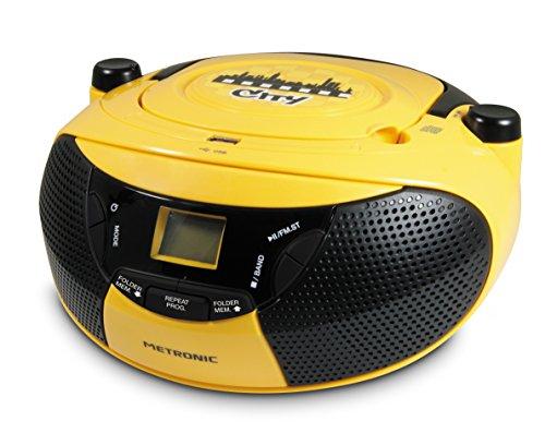 Metronic CITY 477103 Radio/Radio-réveil Lecteur CD MP3 Port USB