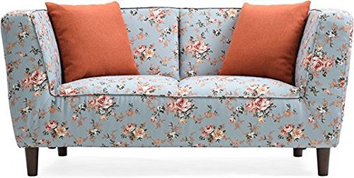 Urban Ladder Janet Loveseat (Vintage Floral Teal)