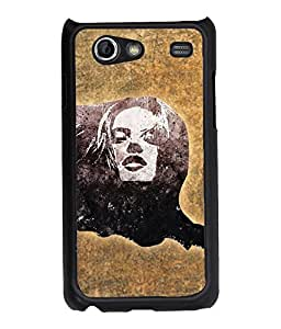 Fuson Pattern Girl Back Case Cover for SAMSUNG GALAXY S ADVANCE - D3835