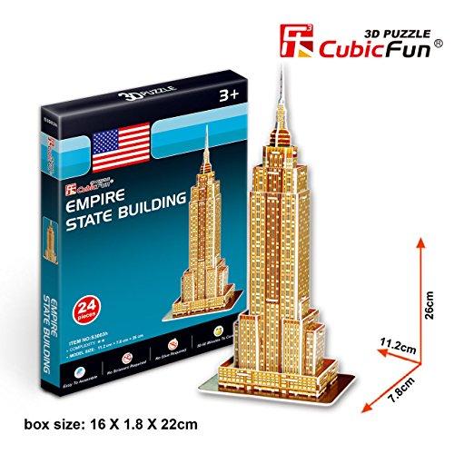 """CubicFun 3D Puzzle S-Series """"Empire State Building"""" - 1"""