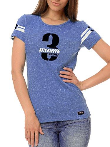 M.Conte signore sportivo T-shirt Fitness T Felpa manica corta Blu Grigio Viola S M L XL Lilly