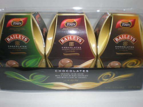 Turin Baileys Irish Cream Filled Chocolates - 3 Pack Variety Pack Gift Set