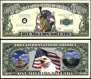 Statue of Liberty Million Dollar Bill (10 Bills) - 1