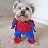 Alfie Couture Pet Apparel – Superhero Costume Spiderman – Size: S