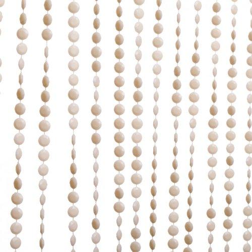 Koyal Wholesale Acrylic Beaded Panel Diamond Cut Curtain, 3-Feet By 6-Feet, Ivory front-963932