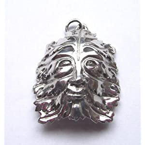 oberon zell bamberg green man pendant - Pagan Wedding Rings