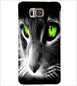 PrintDhaba Digital Cat D-2126 Back Case Cover for SAMSUNG GALAXY ALPHA (Multi-Coloured)