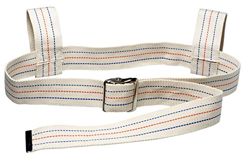 2 Looped Handles - Physical Therapy Gait Belt with Handles and Metal Buckle (Gait Belt Handles compare prices)