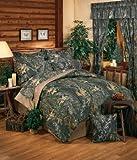 New Break-Up Mossy Oak Camouflage Comforter Set, Queen