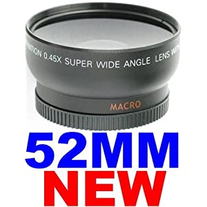 52mm WIDE-ANGLE Lens ~INCLUDING BAG~ FOR NIKON D40 D50 D60 D70 D80 D40X