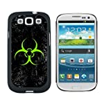 Biohazard Warning Symbol Green Zombies Distressed – Snap On Hard Protective Case for Samsung Galaxy S3 – Black