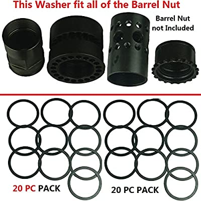 FieldSport AR Free Float Handguard Rail Barrel Nut Washer Shims -20 PC Pack. For 223/556