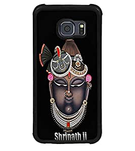 Fuson Premium Shrinath Ji Metal Printed with Hard Plastic Back Case Cover for Samsung Galaxy S6