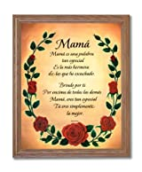 Motivational Poem Mom I Love You Hispanic Spanish Wall Picture Oak Framed Art Print