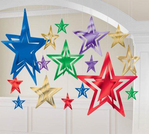 foil stars 3d decorative kit - jewel tone - 1