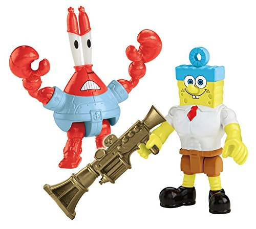 Fisher-Price Imaginext Nickelodeon SpongeBob SquarePants Movie (2-Pack), Invinci Bubble and Sir Pinch-a-lot Figures - 1