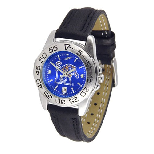 Suntime Memphis Tigers Ncaa Anochrome Sport Ladies Watch Leather Band