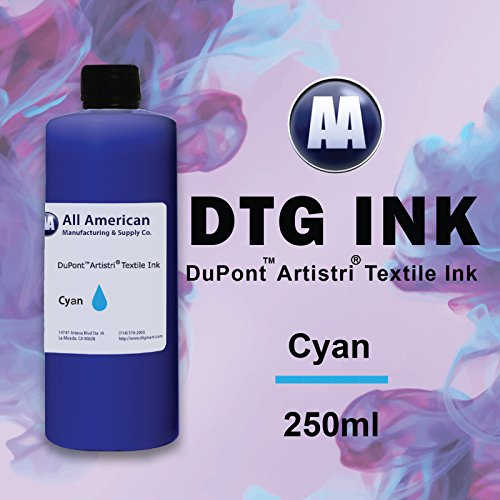 DTG Ink 250ml Dupont Textile Ink for Direct to Garment Printers Ink Bulk (Cyan) (Direct To Garment Print compare prices)