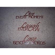 Live Laugh Love Phrase Set Home Decor Antique Copper Metal Wall Art